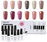 Elite99 Esmalte Semipermanente UV LED 12pcs Kit Uñas de Gel Pintauñas Esmalte de Uñas Soakoff Manicura Color Amarillo - Gift set 013